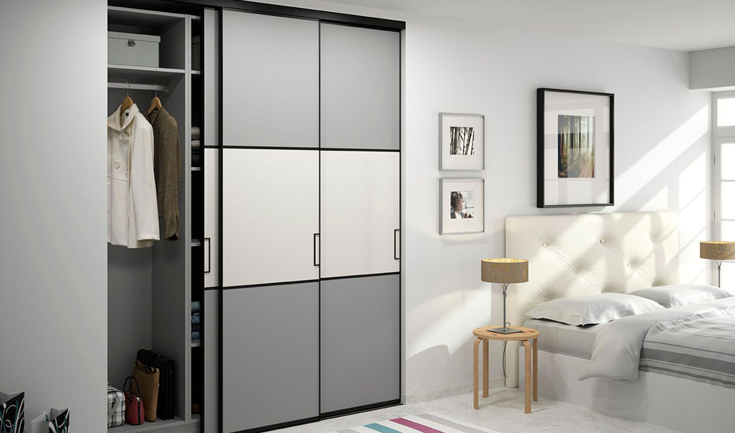 des portes coulissantes sur un dressing blog. Black Bedroom Furniture Sets. Home Design Ideas