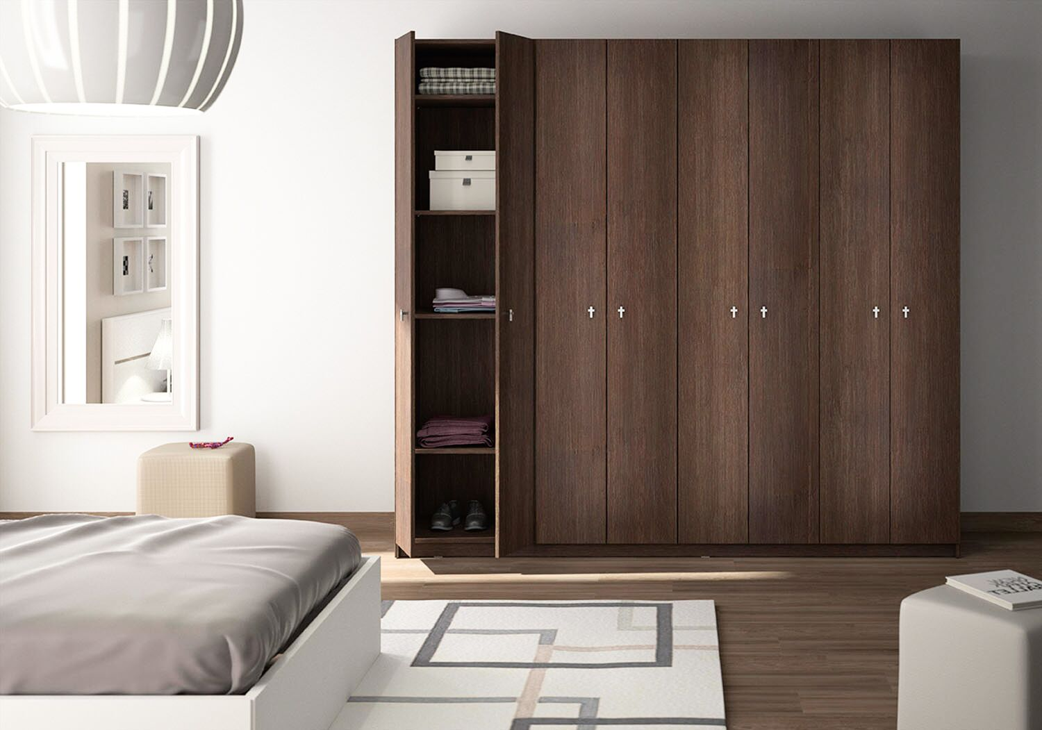 les diff rences entre l 39 armoire modulable et sur mesure. Black Bedroom Furniture Sets. Home Design Ideas