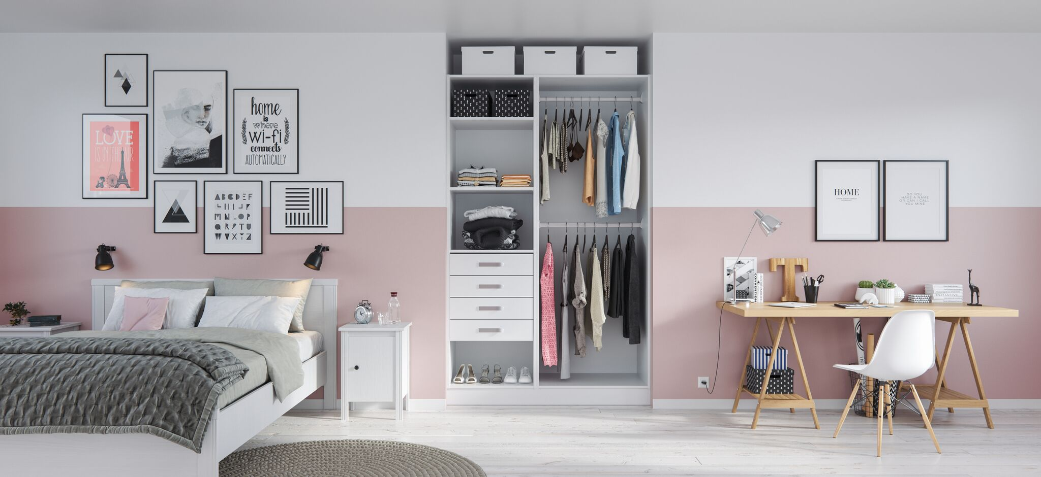 comment am nager un dressing pour ado blog. Black Bedroom Furniture Sets. Home Design Ideas